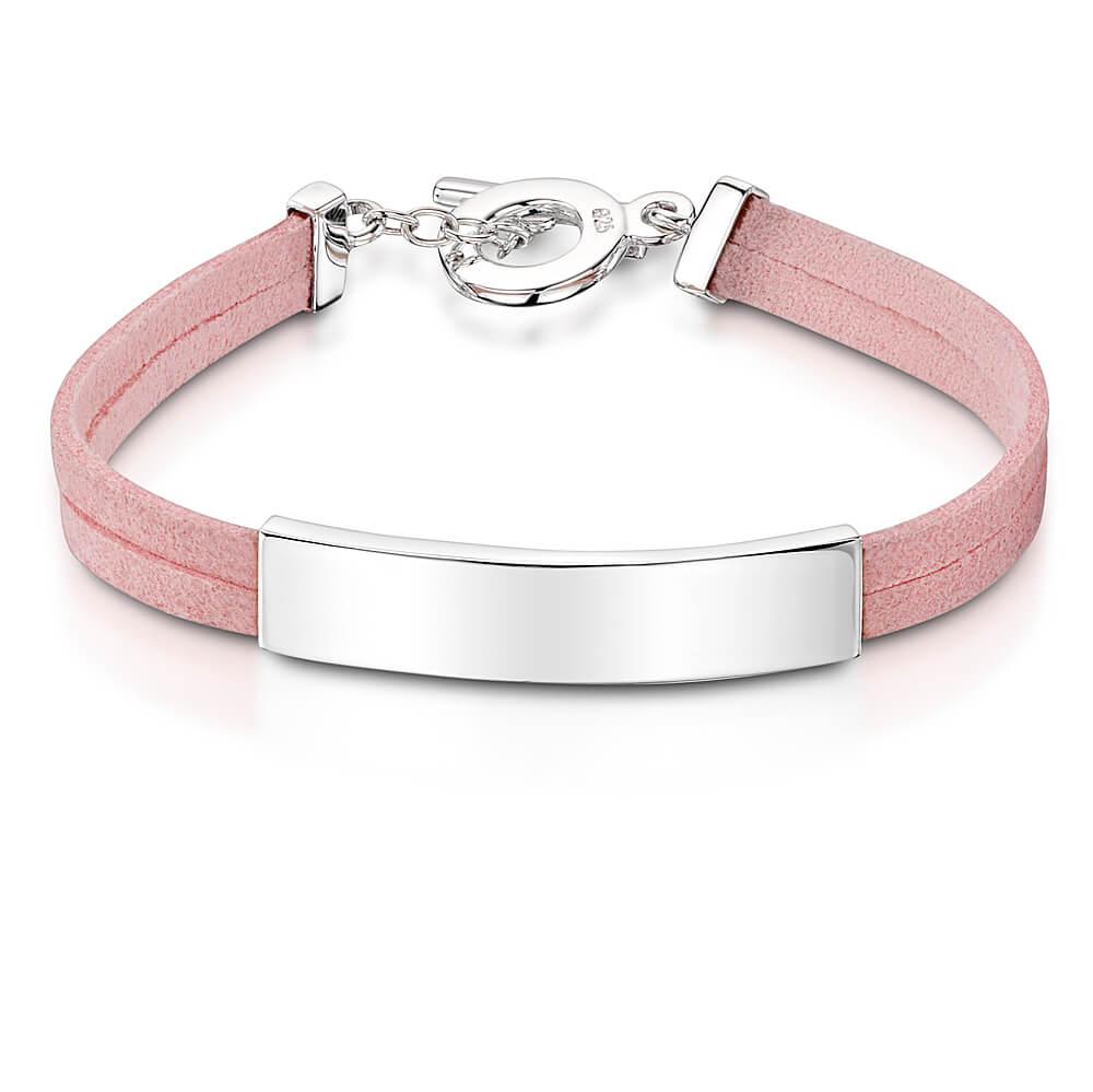 identity engraved bracelet pink engravers guild