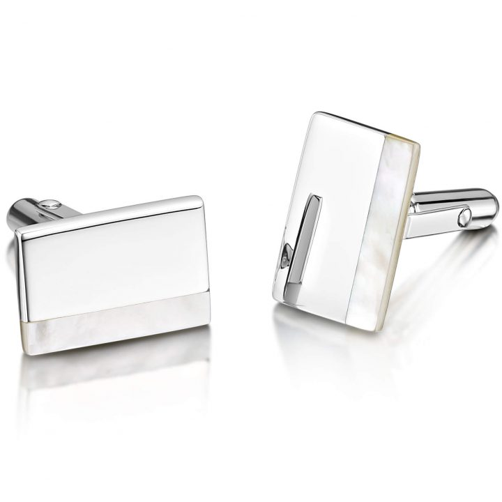 Smith Engraved Cufflinks - Pearl