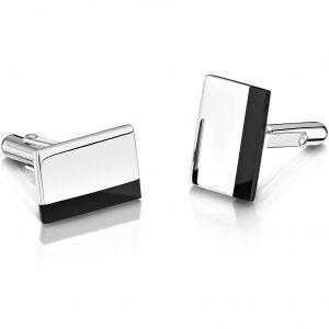 Smith Engraved Cufflinks - Onyx