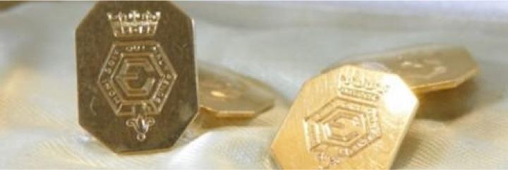 Engraved cufflinks for Duke of Windsor