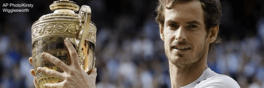 Murray engraved wimbledon trophy