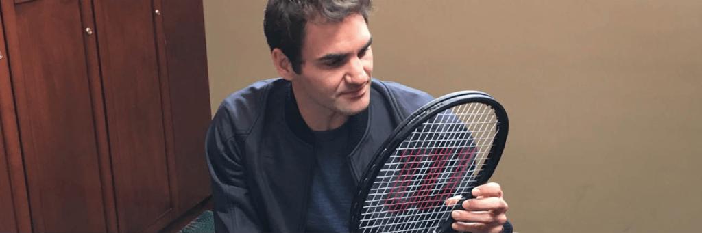 roger federer engraved racket
