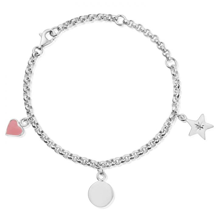 Silver-Charm-Engraved-Bracelet