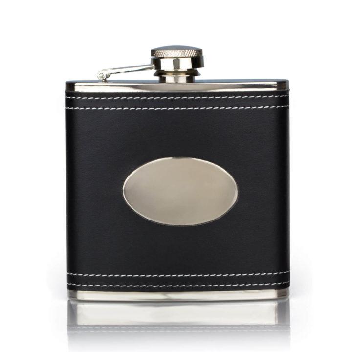 black-leather-hip-flask