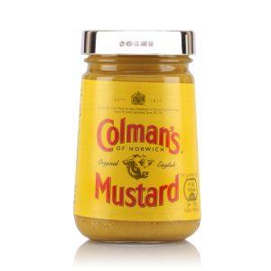 personalised silver Colmans Mustard Lid