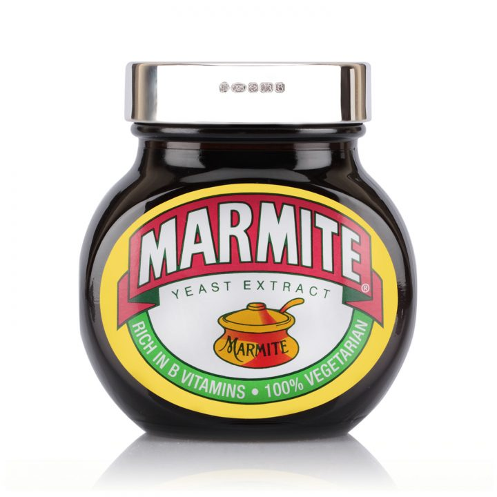 solid silver marmite lid personalised