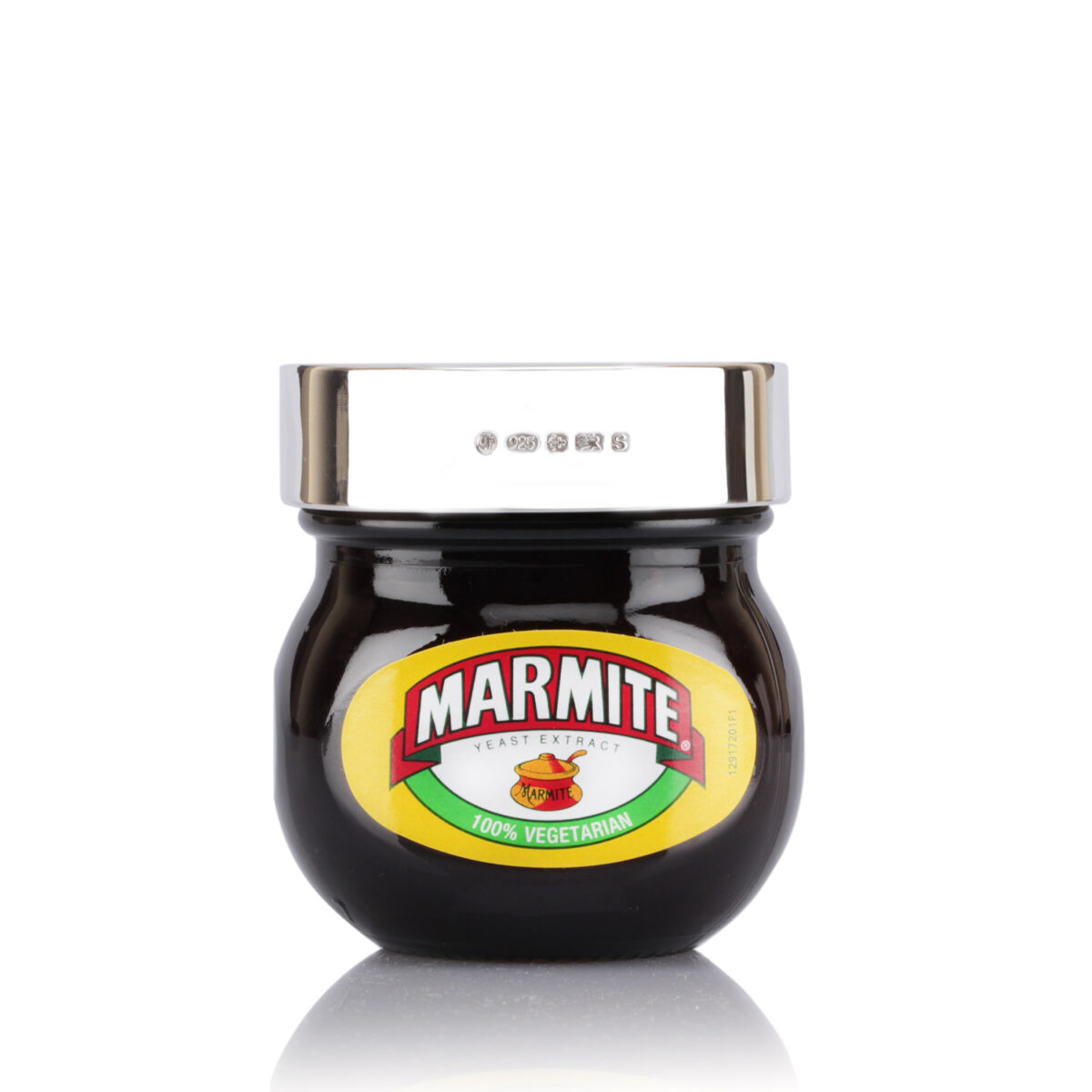 personalised solid silver marmite lid 70g with engraving