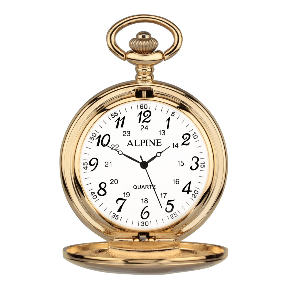 personalised pocket watch on gold