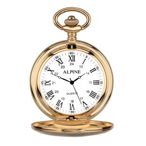 personalised pocket watch gold roman numerals