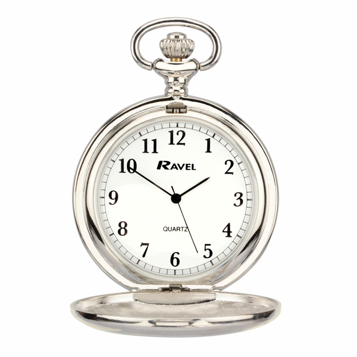 silver classic pocket watch with custom engraving
