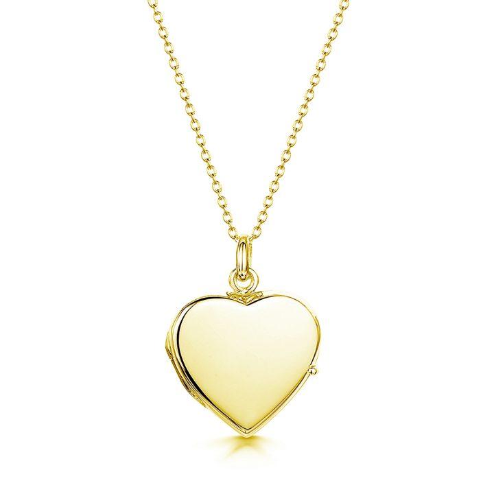 personalised gold heart locket