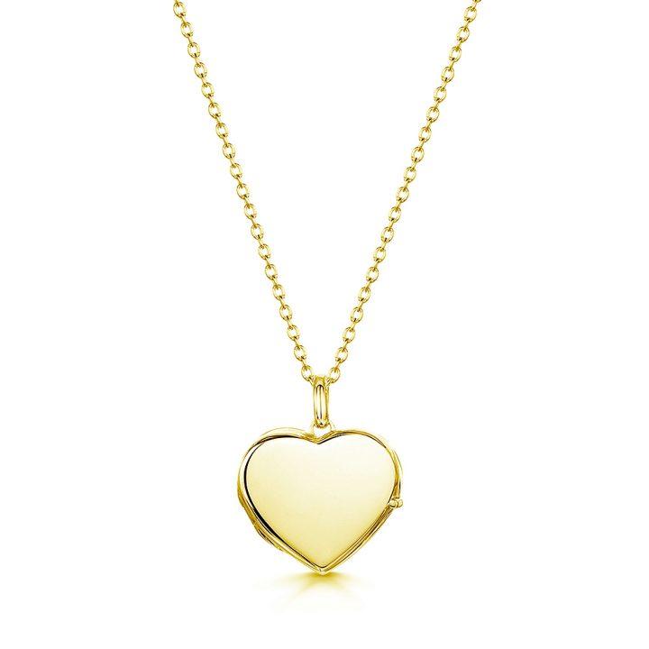 personalised locket in heart shape