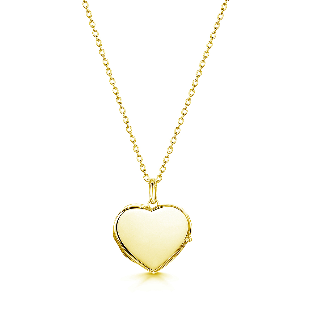 personalised locket in heart shape
