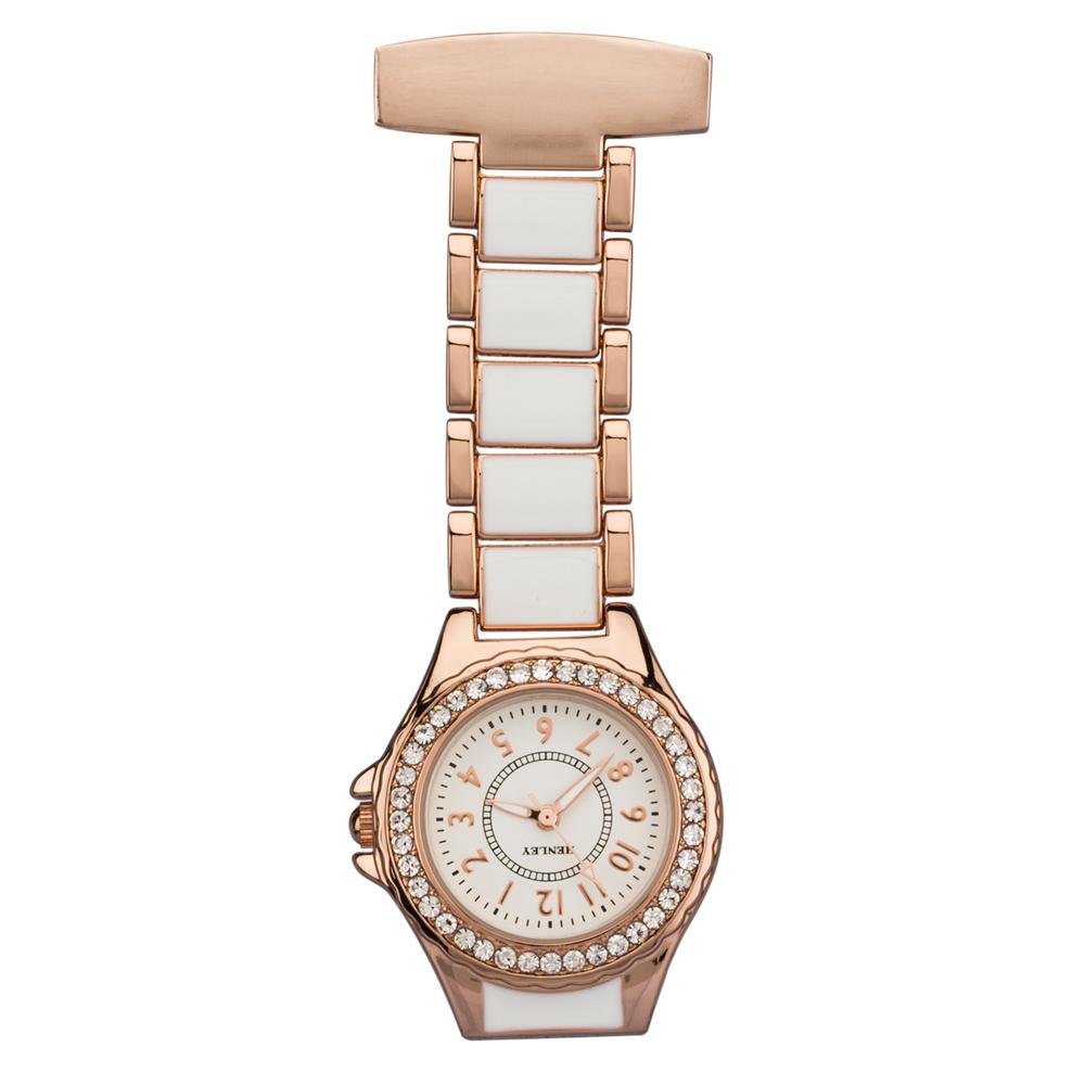 personalised cermanic nurses watch with diamante crystals
