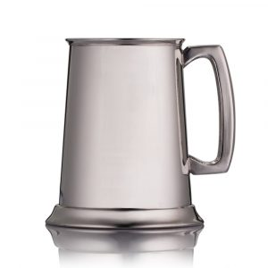 classic pewter engraved tankard