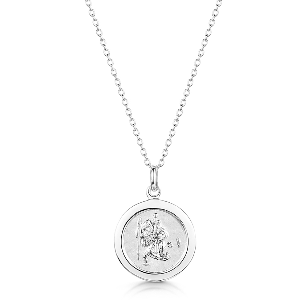 engraved st christophers necklace