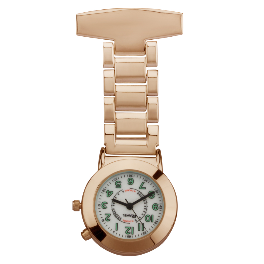 engraved rose gold fob watch backlight