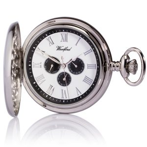 engraved woodford pocket watch