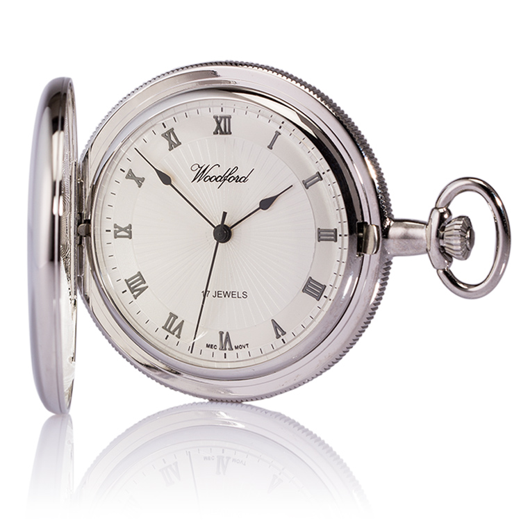 personalised woodford mechanical pocket watch