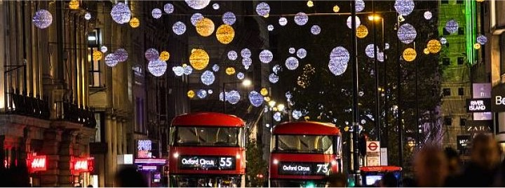 decorations for christmas in london