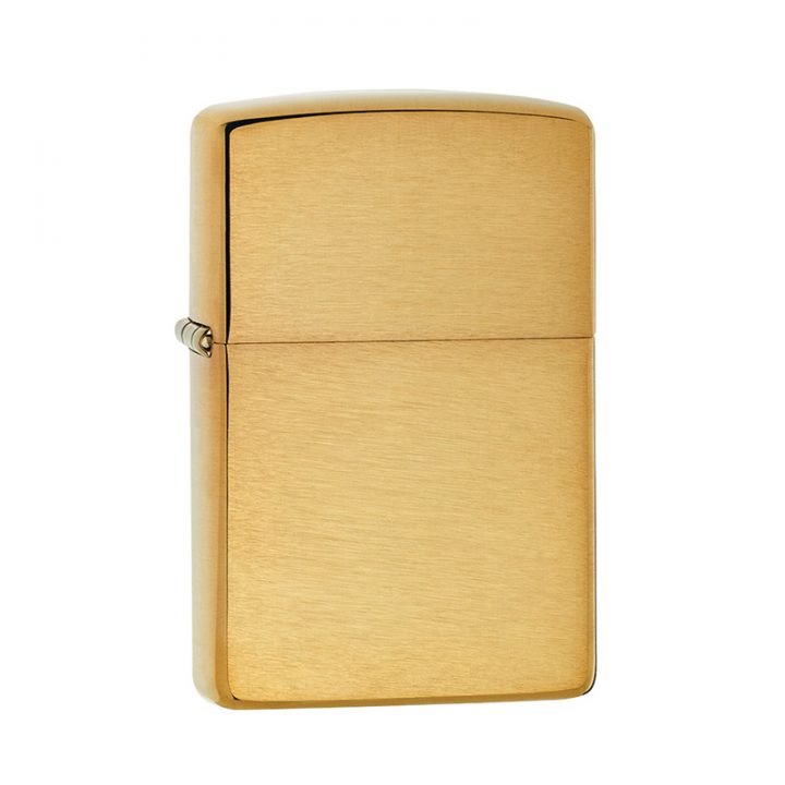 personalised brushed brass lighter zippo