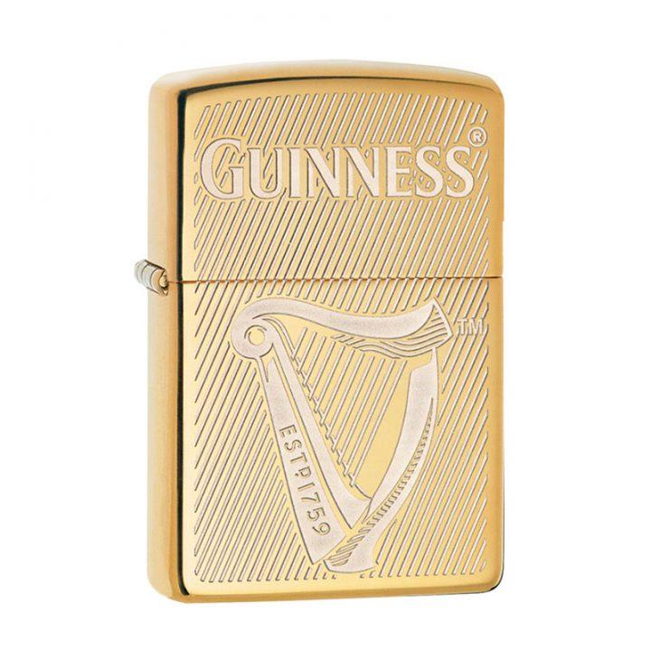 guinness zippo lighter gold engraved