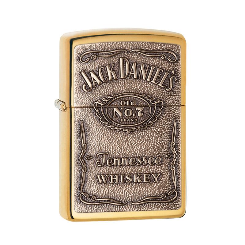 jack Daniels brass zippo lighter engraved
