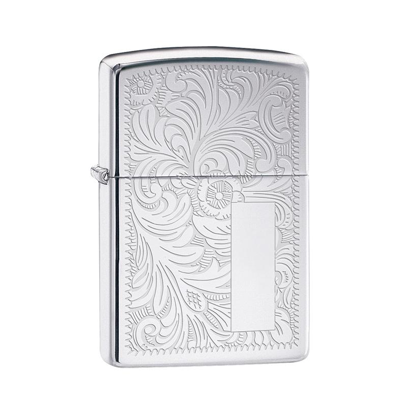 engraved venetian zippo lighter