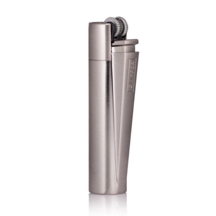 engraved clipper lighter in brushed steel