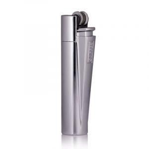 engraved clipper lighter silver back
