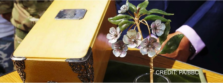 engraved faberge flower