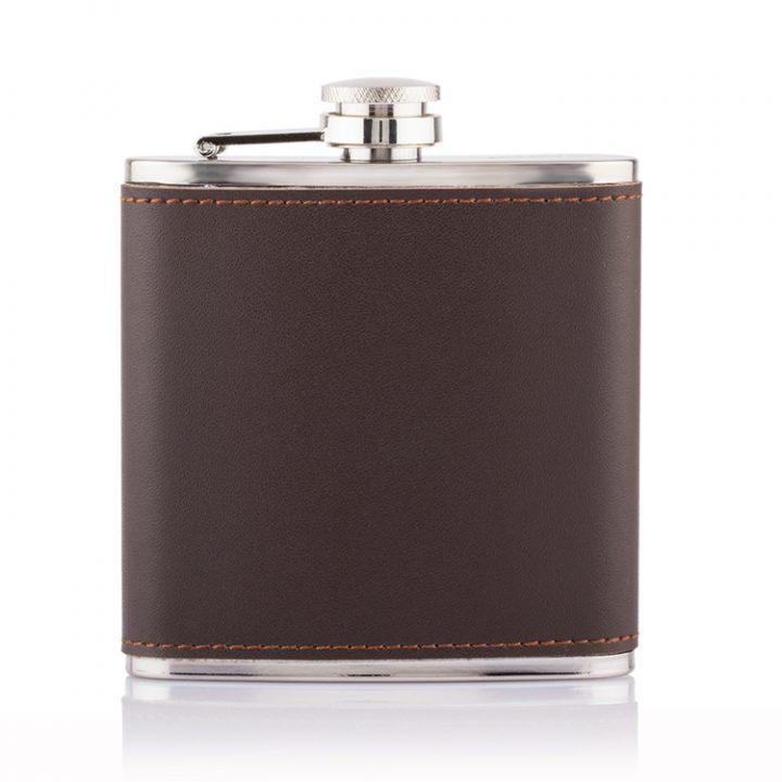 Leather-wrap-hero hip flask