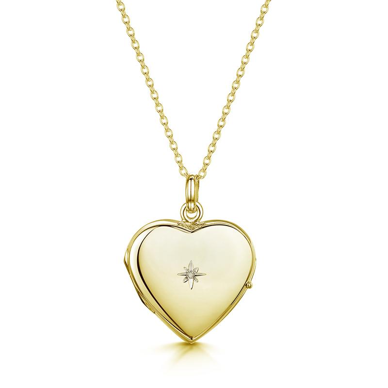 Diamond-personalised-locket-gold