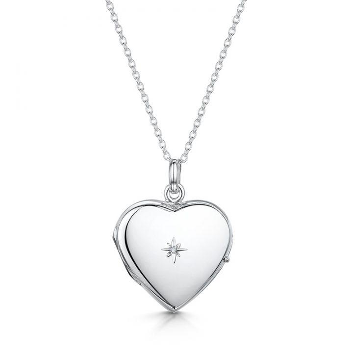 Diamond-personalised-locket-silver