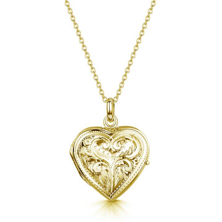Full-heart-scroll-locket-gold
