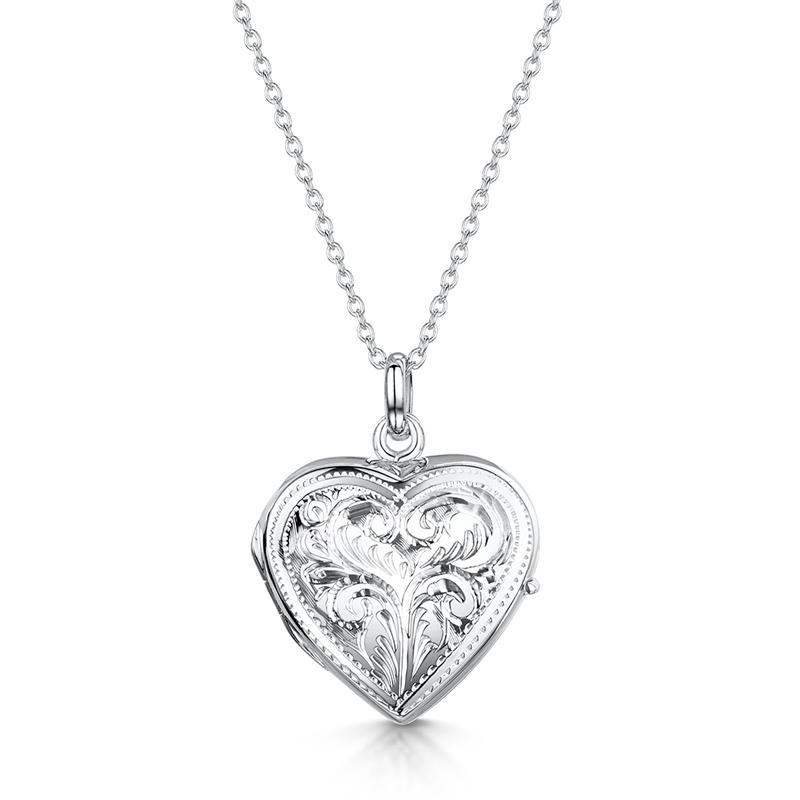 Full-heart-scroll-locket-silver