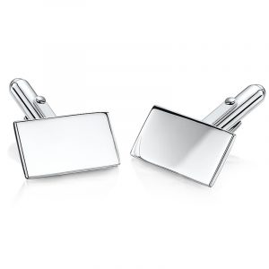 Oblong-silver-personalised-cufflinks