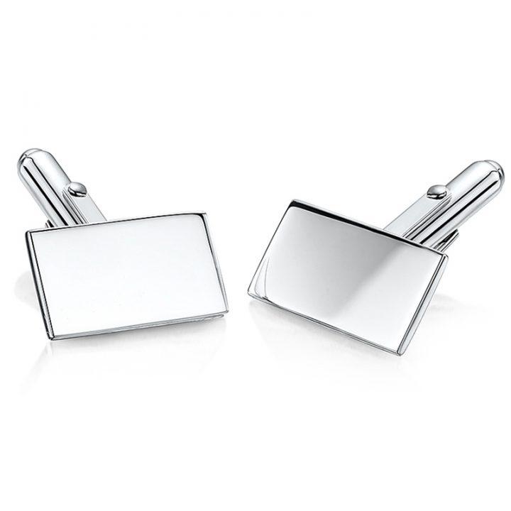 Oblong-silver-personalised-cufflinks