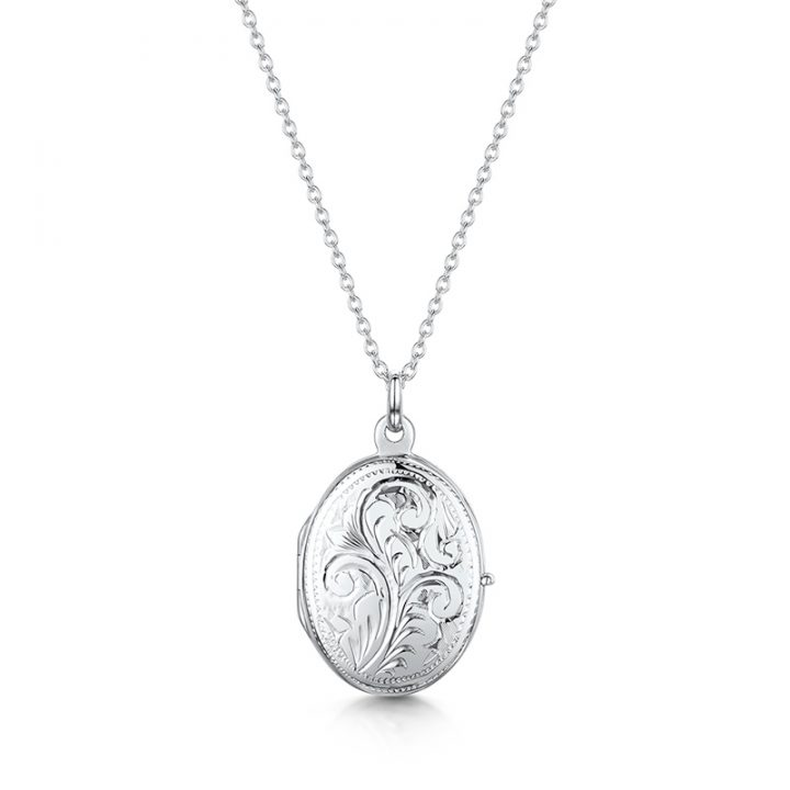 Small-scroll-oval-locket-silver
