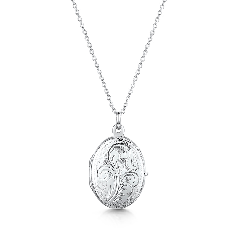 Small-scroll-oval-locket-silver