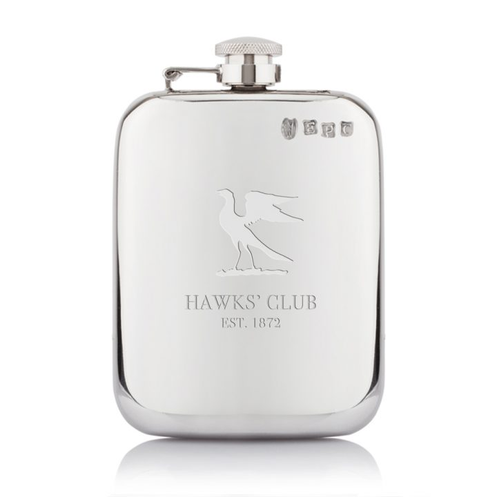 hawks-pewter-hip-flask