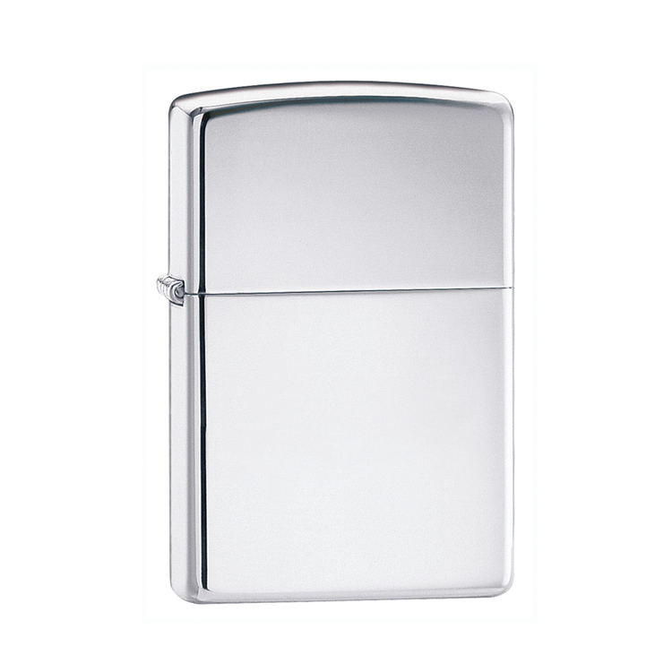 zippo-polished-silver-personalised-lighter