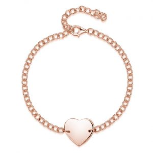 heart-chain-personalised-bracelet-rose