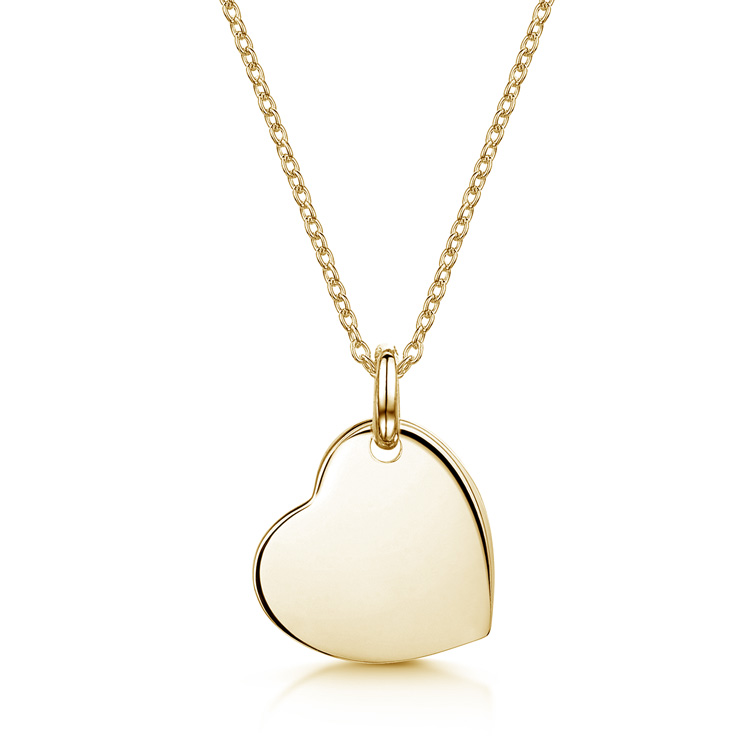 Drop-Heart-Personalised-Necklace-Gold