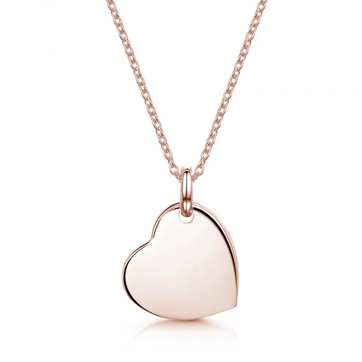 Drop-Heart-Personalised-Necklace-Rose-Gold