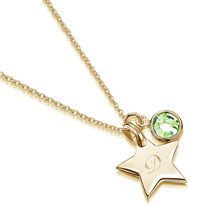 Little-Star-Initial-personalised-necklace---gold