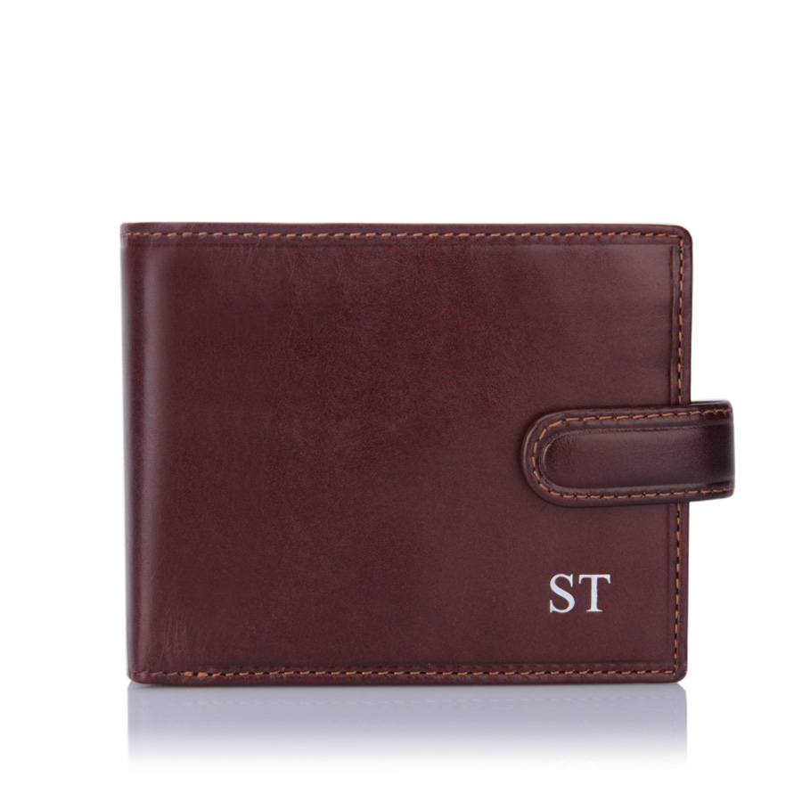 strap-wallet-brown-silver-initials