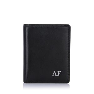 visconti-card-wallet-black-silver-initials