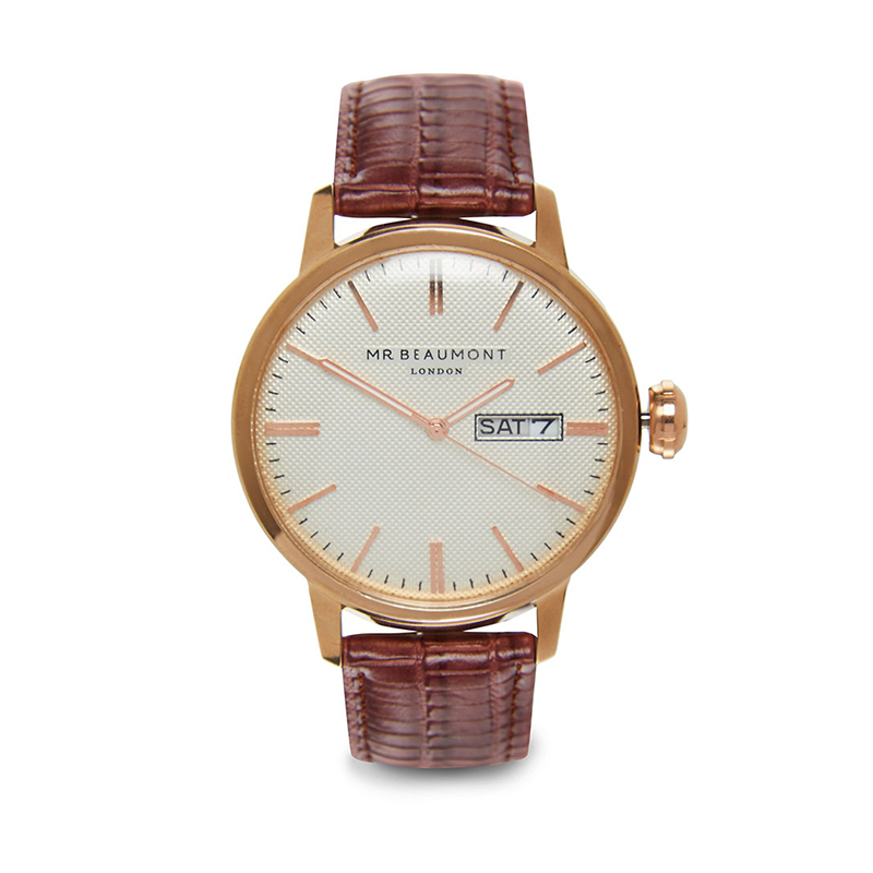 large-brown-strap-engraved-watch