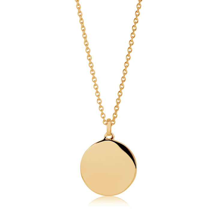 round-gold-personalised-disc-necklace